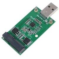 1pc mini usb 3 0 to pcie msata external ssd pcba conveter adapter card