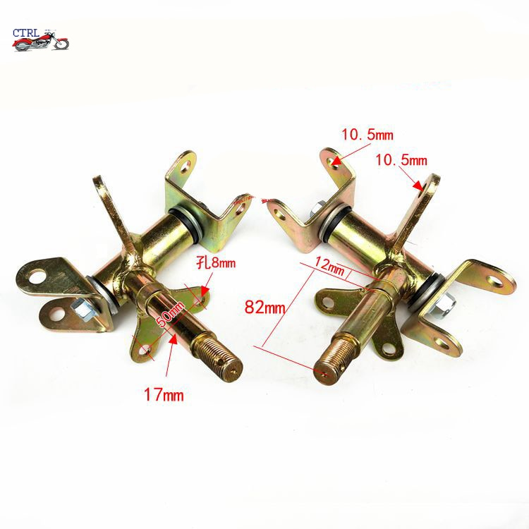 1Pair/2pcs Steering Strut Knuckle Spindle Fit For Drum Brake of ATV 49cc 50cc 70cc 90cc 110cc Go Kart Buggy UTV Quad Bike Parts