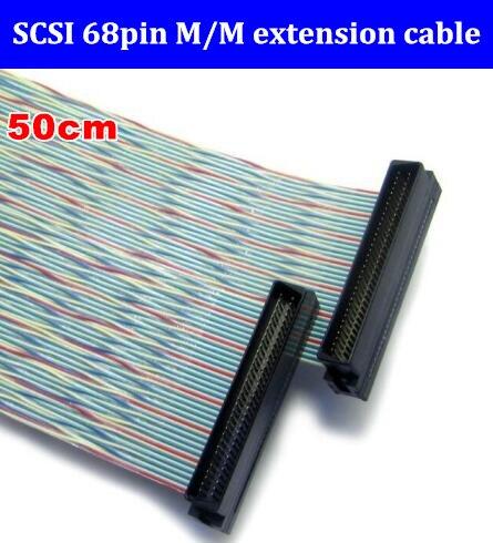 عالية الجودة SCSI 68pin تمديد كابل SCSI 68 P الذكور إلى 68 دبوس كابل موصل ذكر 50 سنتيمتر