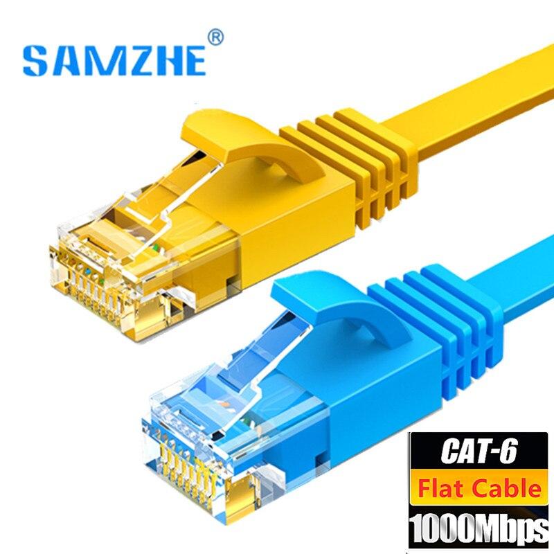 CAT6 Ethernet Cable plano RJ45 Internet Lan Cable Cat 6 UTP de...