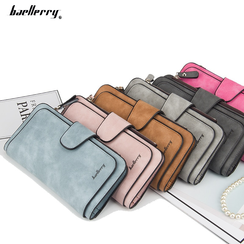 baellerry Women Fashion Wallet Leather Female Coin Purse Long Business Clutch Bag Credit Card Holder