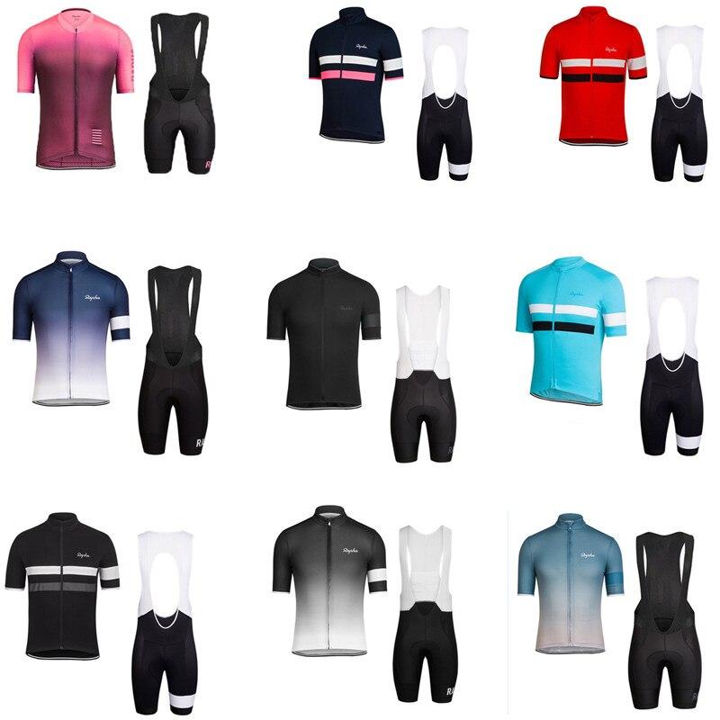 Rapha verão dos homens e das mulheres de manga curta camisa de ciclismo terno mountain road bike team versão roupa interior superior tamanho maior
