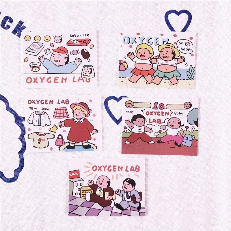 Смешные корейские кислородные лабораторные декорации карты мобильный телефон чехол для ноутбука руководство реквизит для фотографий детс...
