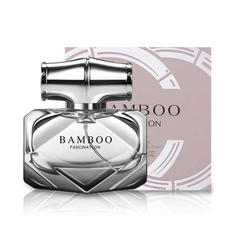 Bottle Glass Bamboo Perfume Feminino Fragrance for Women Body Spray Liquid Antiperspirant Elegant Lady Original Parfum W22
