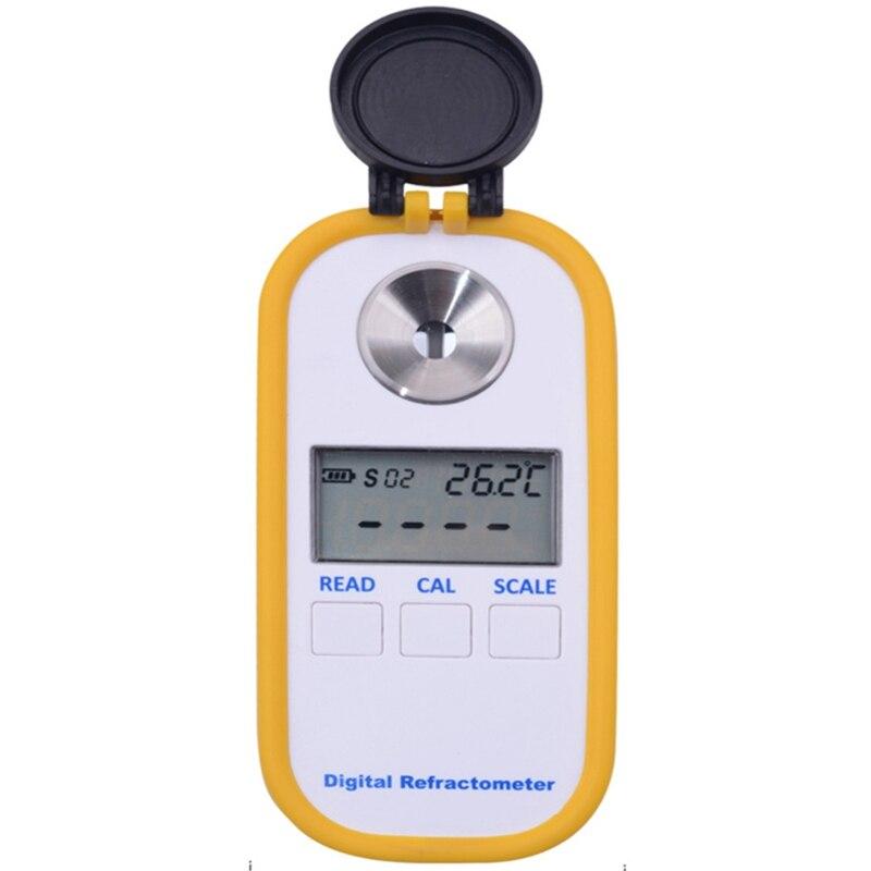 Pantalla Digital Brix 0-50% azúcar refractómetro medidor Dr101 azúcar probador fruta dulce refractómetro medidor