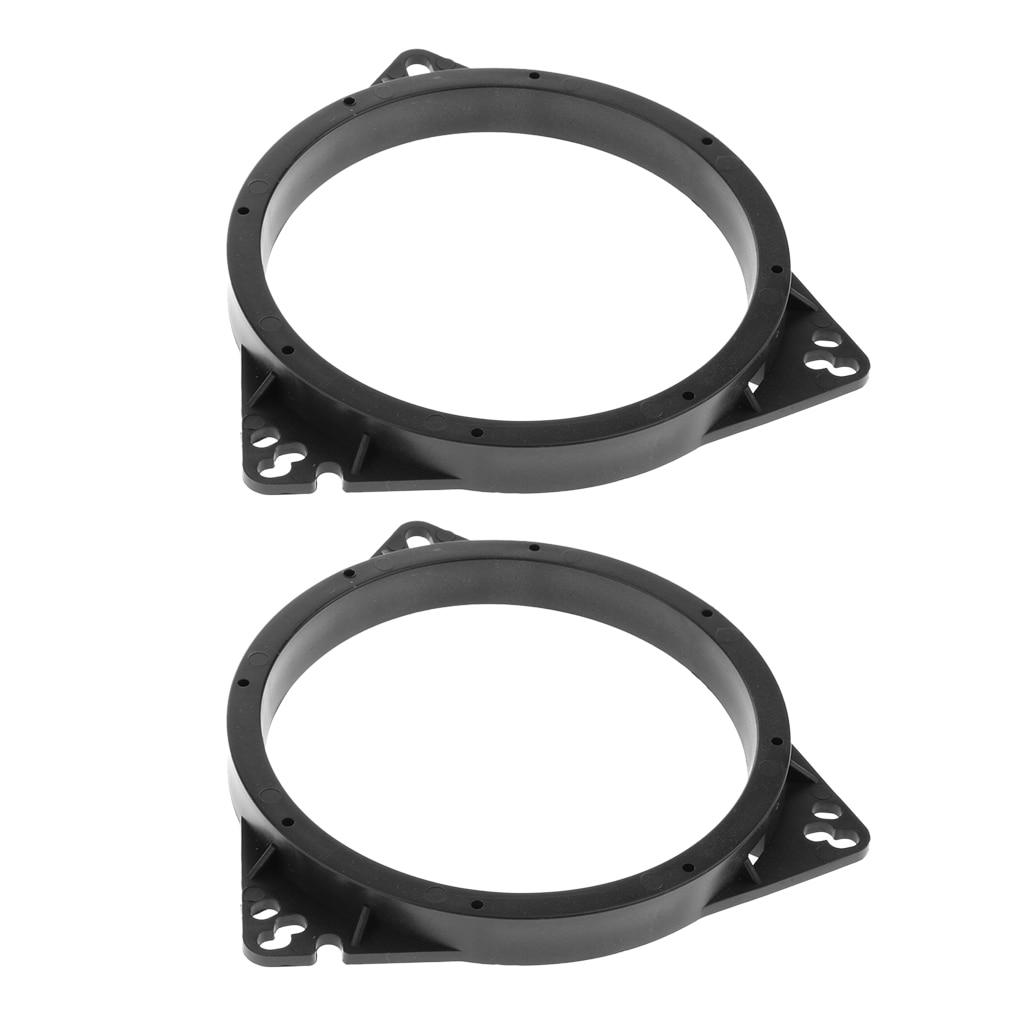 2 шт., черное кольцо-адаптер для динамика 6,5 дюйма для Toyota Nissan
