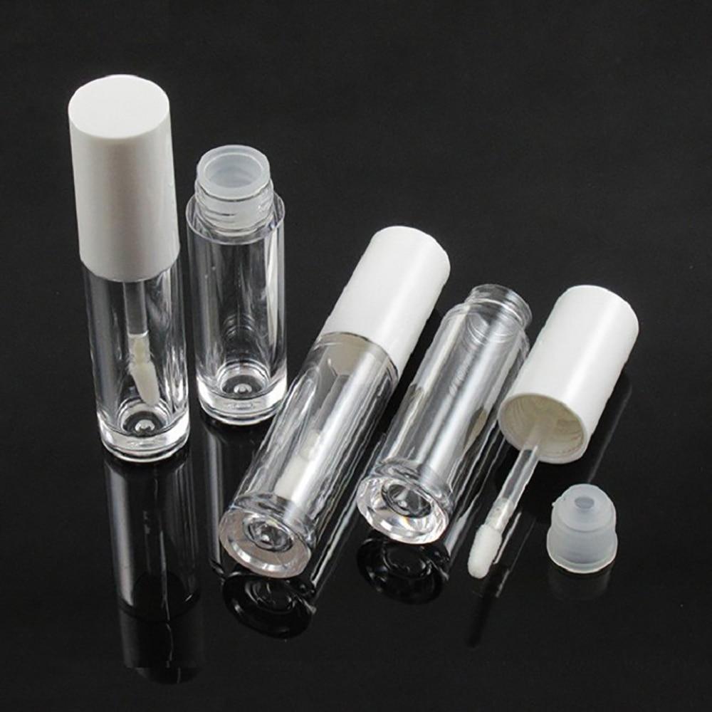 Блеск для губ пустые трубы мини многоразовый косметический контейнер пластиковые емкости для пробы белый колпачок набор инструментов для ...