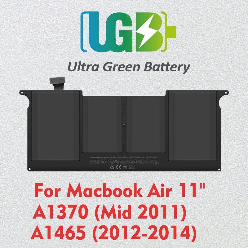 UGB جديد الأصلي A1406 A1495 بطارية لابل ماك بوك اير 11