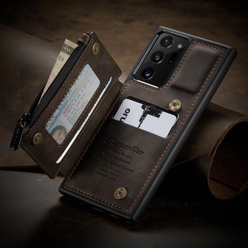 caseme caso carteira de couro de luxo para samsung glaxy note20 ultra carteira telefone