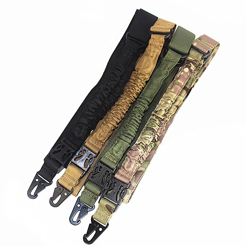 Tactical One single point Rifle Sling Gun Airsoft Sling Belt Adjustable Bungee Rifle Shoulder Strap for Air-soft Hunting magorui heavy duty tactical one single point sling adjustable bungee rifle gun sling strap