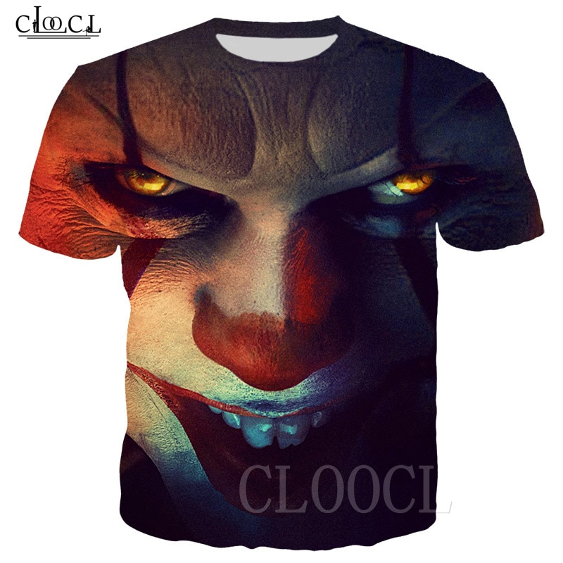 IT Chapter 2 Pennywise Horror Clown 3D Hoodies Sweatshirt Men Women T Shirts Hoody Pockets Casual Sportswear Pullovers Tracksuit