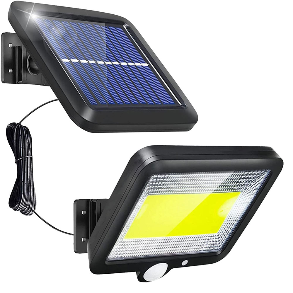Solar Motion Lights Outdoor 100LEDs Solar Security Wall Light Auto On/Off Waterproof Solar Panel Night Light for Yard Porch