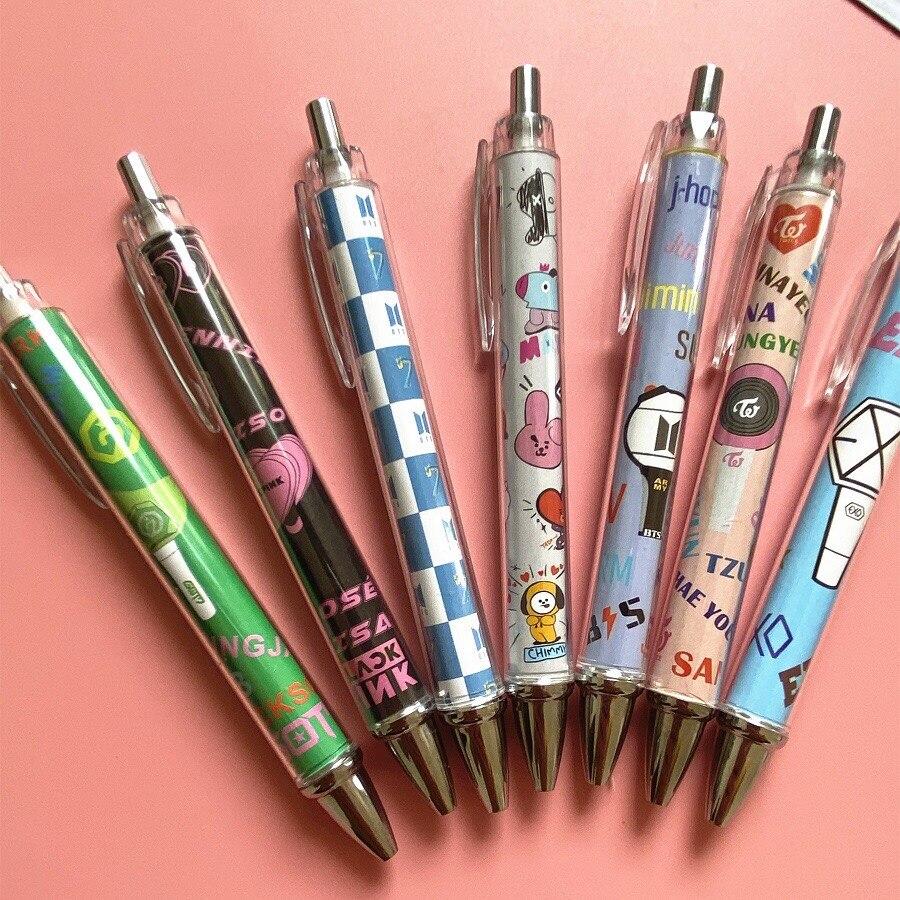 3hqbts, Студенческая и офисная творческая Канцелярия, пластиковая шариковая ручка BP got7 exo, шариковая ручка дважды в том же стиле