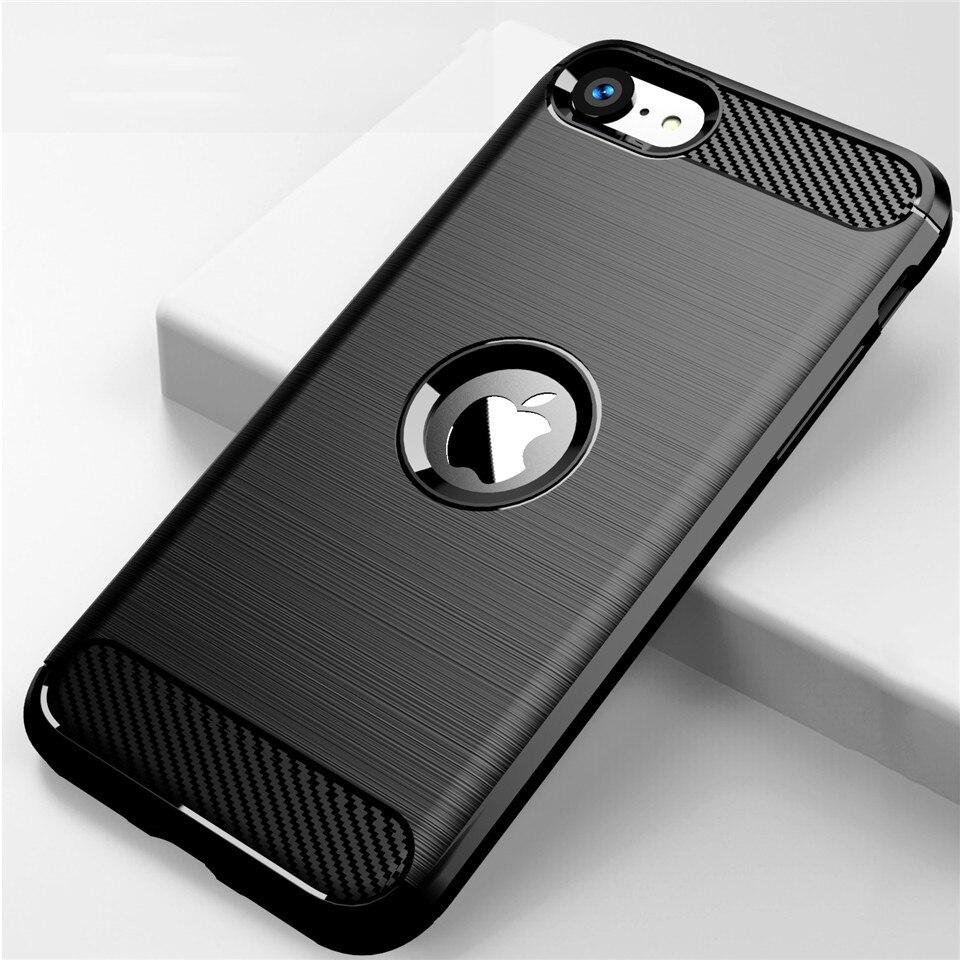 Para iPhone SE 2 2020 funda de silicona suave armadura a prueba de golpes Fundas de teléfono Coque Case para iPhone SE (2020)