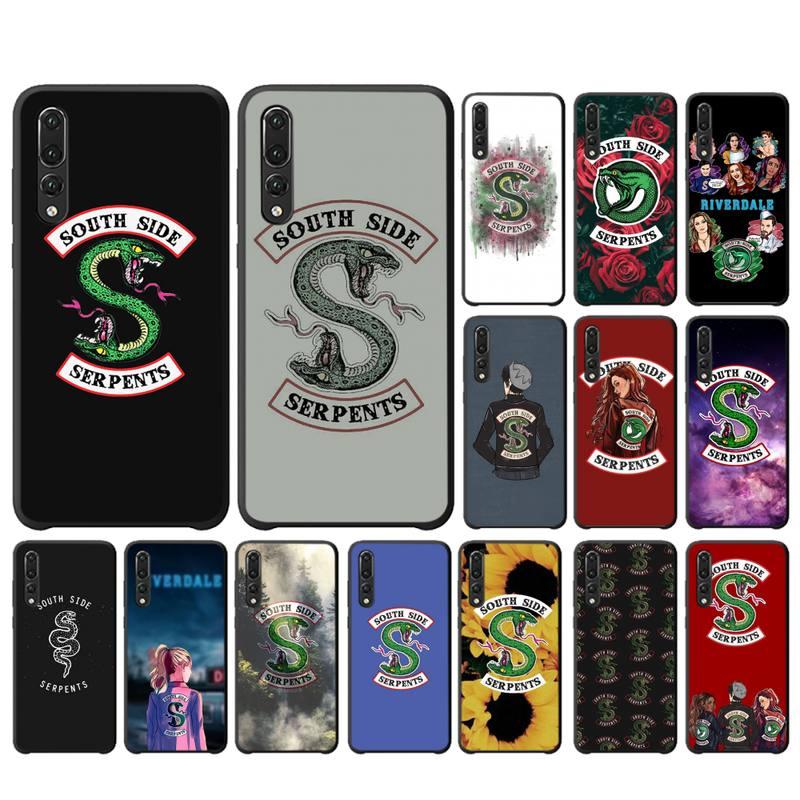 Yinuoda Riverdale lado sur Serpents suave negro Funda de teléfono para Huawei P20 P30 Pro P20 P30 lite P smart Z Y5 Y6 Y7 Y9