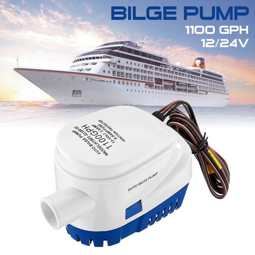 1100 gphautomatic bilge pump 12v 24v dc marine boat submersible pump drain pump boat accessories marine 750GPH 1100GPH Automatic boat bilge pump 12V 24V DC Submersible Electric Water Pump Small 12V 750 1100 gph Auto Fast Delivery