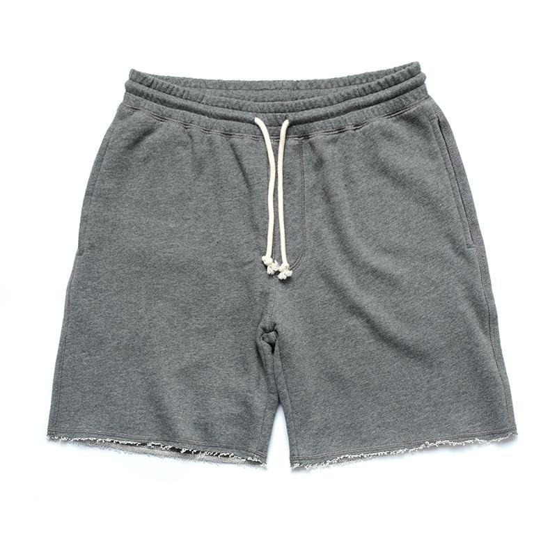Summer Casual Mens Shorts Cotton Knit Sport Weight Lifting Shorts Fashion with Pockets Thin Erkek Giyim Vanquish Fitness XX60MS