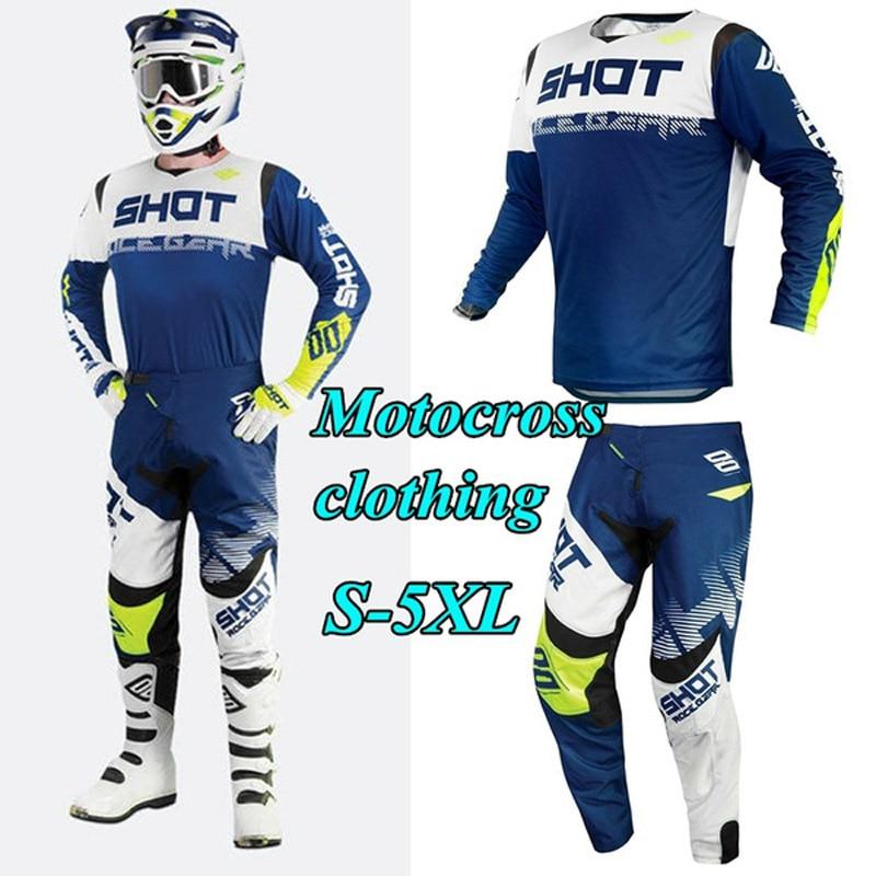 Maillot et pantalon de Motocross pour hommes, combinaison de course pour vélo de montagne, ensemble d'équipement de moto