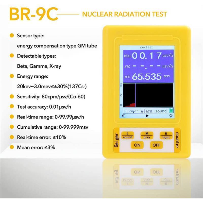 Electromagnetic Radiation Nuclear Detector BR-9C Handheld Digital Display EMF Detector For Electromagnetic Field Radiology