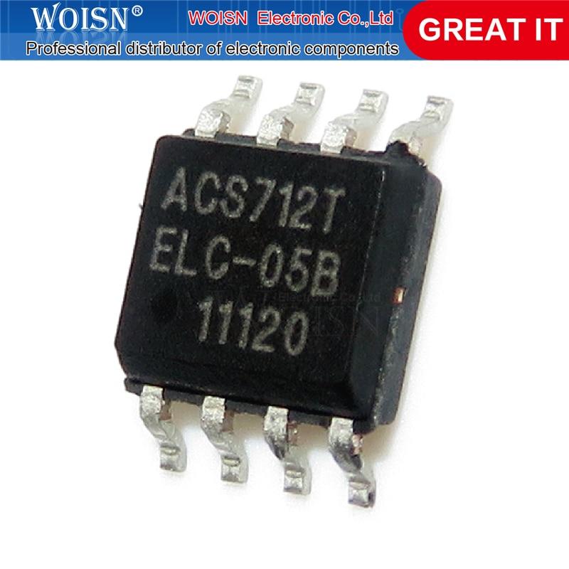 1 pçs/lote ACS712ELCTR-05B-T ACS712T ACS712 SOP-8 novo original Em Estoque