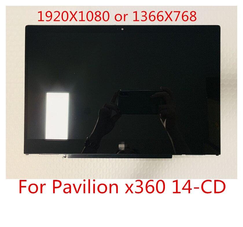 شاشة كمبيوتر محمول LCD مقاس 14.0 بوصة تعمل باللمس ، لوحة بديلة لجهاز HP Pavilion X360 14-cd0001nx 14-CD FHD 1920X1080