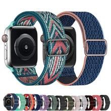 Correa de nailon para Apple watch, banda elástica ajustable de 44mm, 40mm, 38mm, 42mm, iWatch 6 se 5 4 3 2