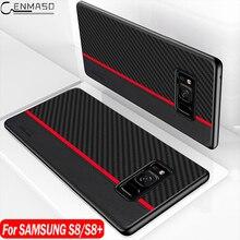 Funda protectora de fibra de carbono para Samsung S8 para Samsung Galaxy S8 S9 S10 5G Plus S10e Note 9 10 Plus