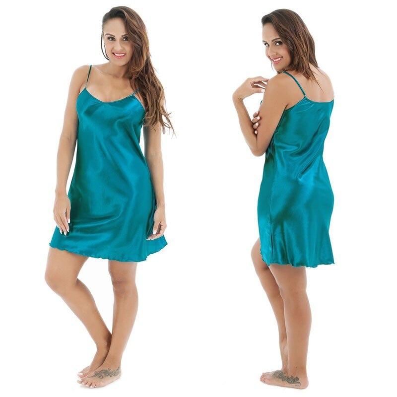 Фото - Женская атласная ночная сорочка большого размера 3XL, 4XL, женская сексуальная ночная сорочка на бретелях-спагетти, женская одежда для сна без ... сорочка женская iv30248