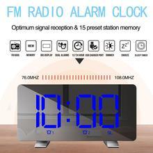 LED affichage numérique USB12/24 heures double Modes Snooze réveil avec Radio FM réveil LED numérique intelligente LED nuit enfants chambre