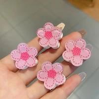 simple flowers pink geometric hair claw ladies elegant hair accessories crab clip for women fashion girl headwear