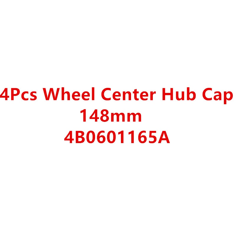 Новые 4 шт 148 мм колпачки для колес для A4 A6 RS6 ALLROAD 4B0601165A 4B0 601 165 A