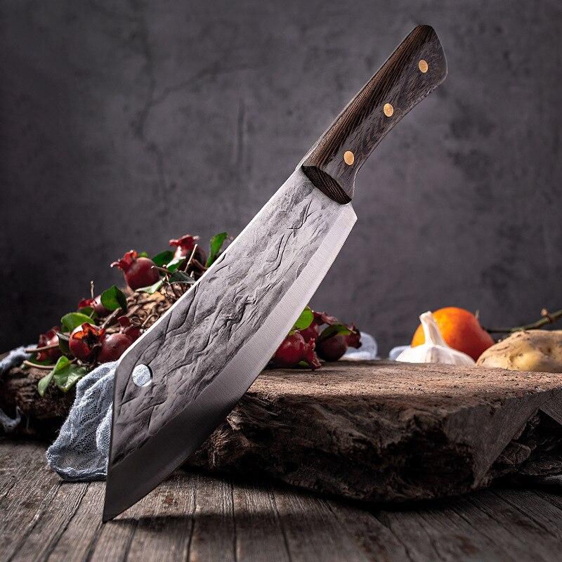تشون الألمانية الشيف الساطور الشيف القطاعة سانتوكو فائدة السكاكين عالية الجودة أدوات مطبخ مزورة باليد 5Cr15MoV الشيف اكسسوارات