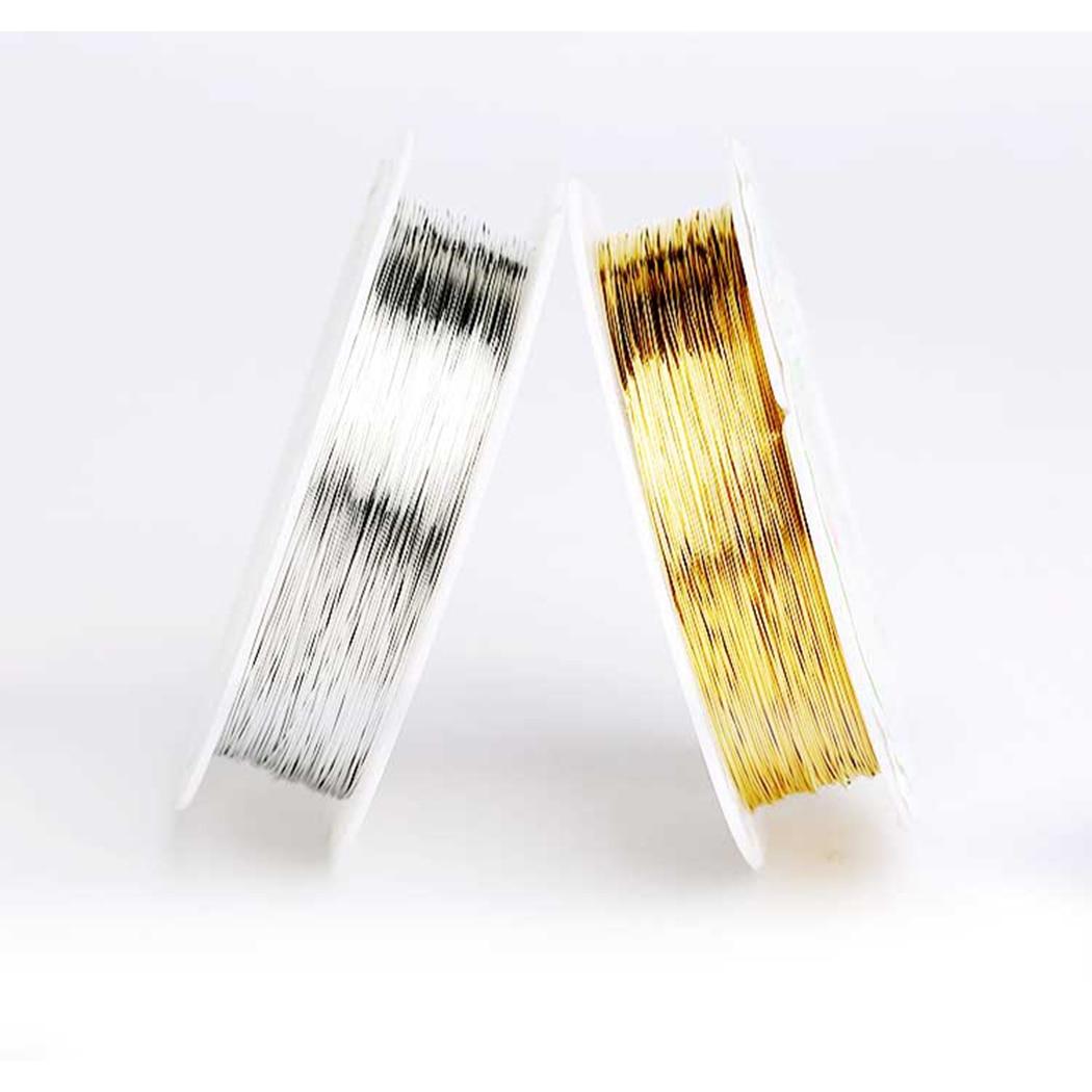 Fio de cobre 0.3mm diâmetro para fabricação de jóias colar pulseira comprimento 2000cm icnway