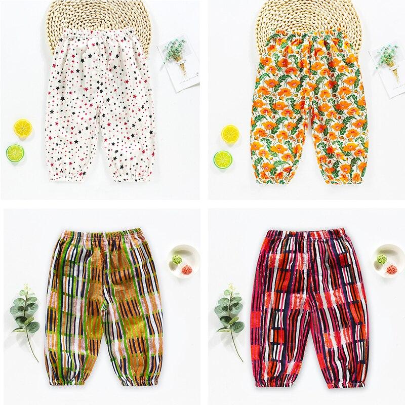HIPAC-pantalons pour enfants   Grands pantalons PP pour bébés, en coton, couleurs multiples, motifs de dessin animé, sarouel sauvage, collection printemps été