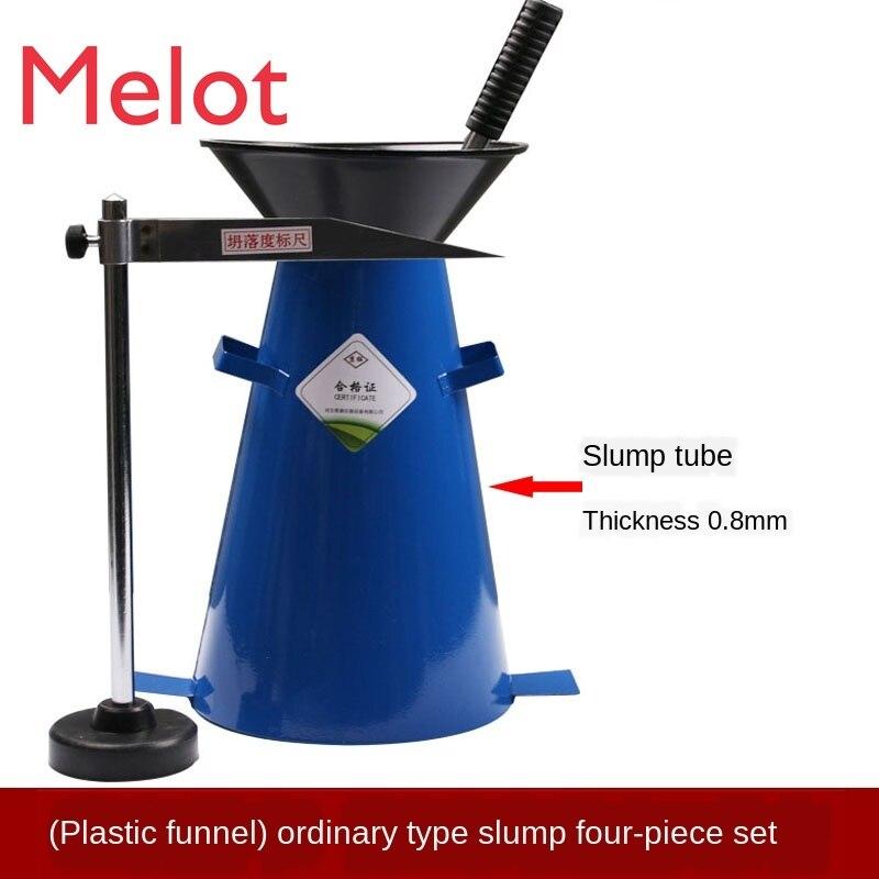 Thicken Concrete Slump Tube Slump Tube Funnel Tamping Rod Ruler Four-Piece Slump Barrel Measuring Instrument enlarge