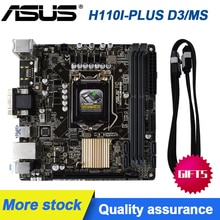 ASUS H110I-PLUS D3/MS LGA 1151 Intel H110 HDMI SATA 6 Gb/s USB 3.0 Mini ITX carte mère Intel