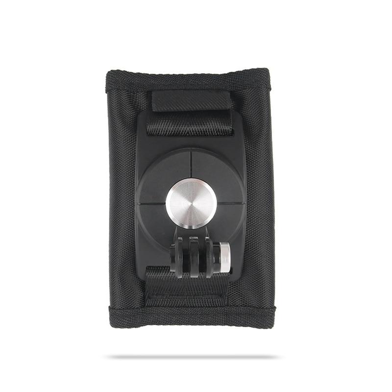 360 derece döner sırt çantası sabitleme kıskacı XiaoYi Gopro Hero8 7 6 5 4 eylem kamera aksesuarları