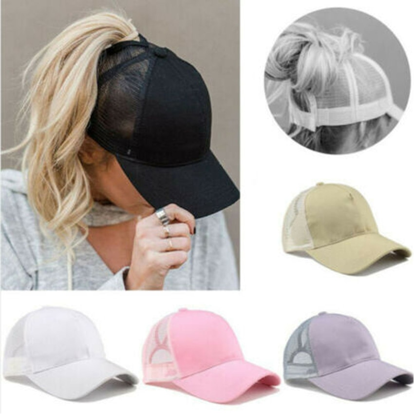 Summer New Men Cap Ponytail Baseball Cap Women Sport Sun Hat Mesh Breathable Caps Snapback Hip Hop H
