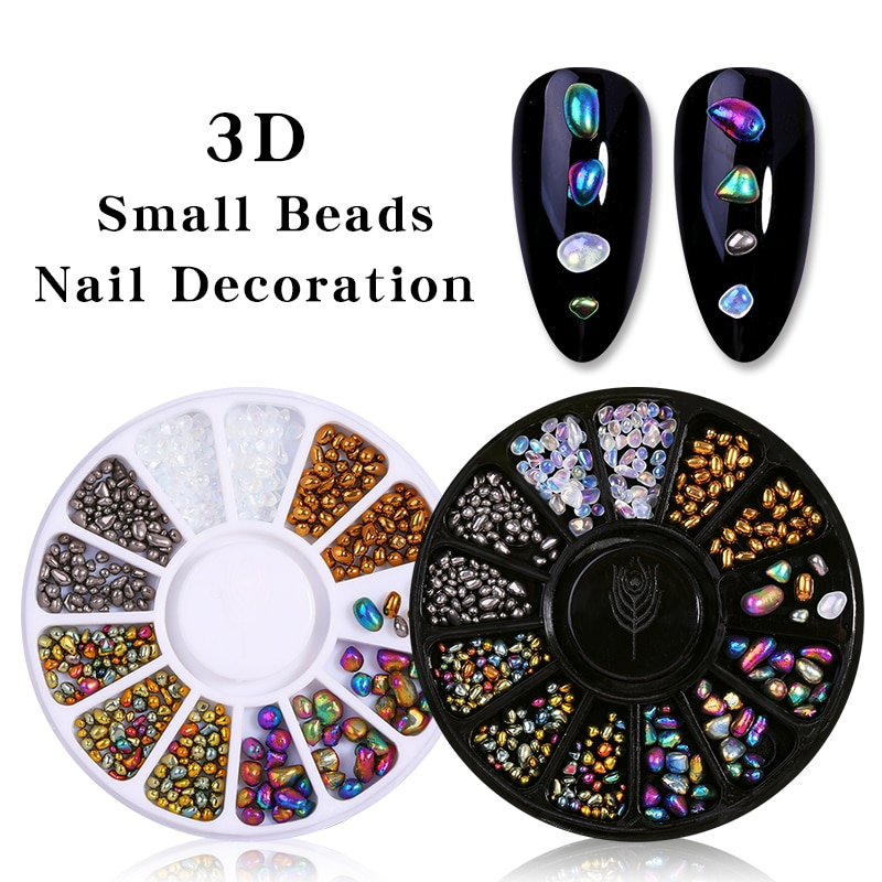 1 Box Mixed Color Chameleon Nail Rhinestone Glitter Small Irregular Beads For Nail Art 3D Decoration Stone In Wheel DIY Tips недорого