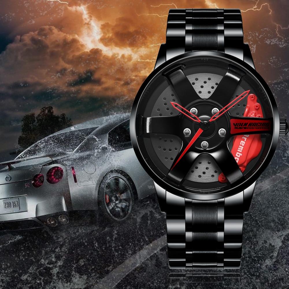 Reloj NEKTOM con ruedas y llantas para coche, diseño personalizado, supercoche, llanta, reloj con ruedas, resistente al agua, creativo, 2019, reloj de pulsera para hombre