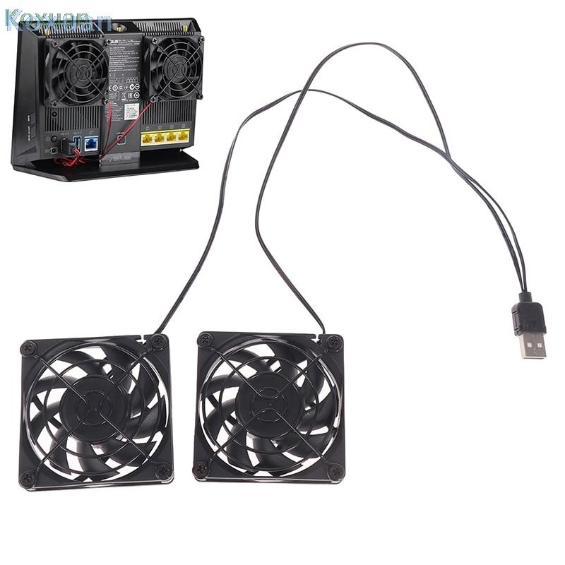 Ventilador de refrigeración USB para ASUS RT-AC68U/AC86U/AC87U/R8000, 2 ventiladores de refrigeración, 4...