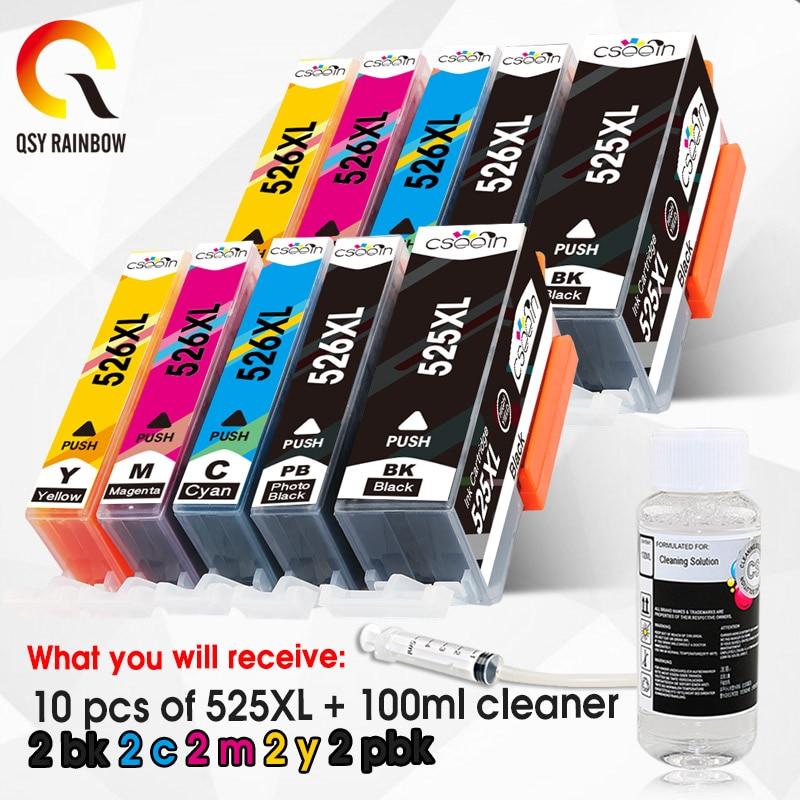 525 CLI 526 Compatible CartridgePGI-525 CL For Canon PIXMA iP4850 iP4950 MG5150 MG5250 MG6150 MG8150 MX885 MG5350