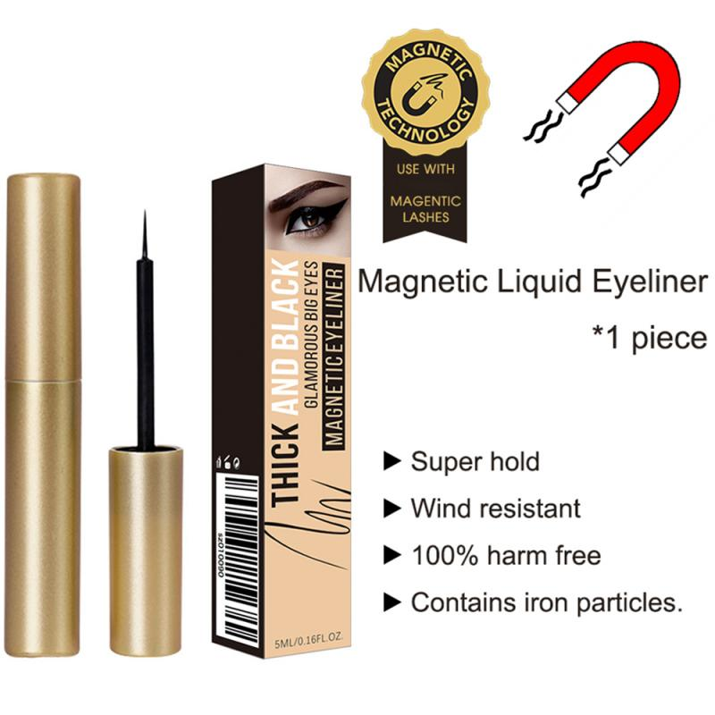 Ibcccndc 5ml magnético líquido eyeliner magnético cílios postiços sem cola secagem rápida longa duração à prova de suor delineador tslm2