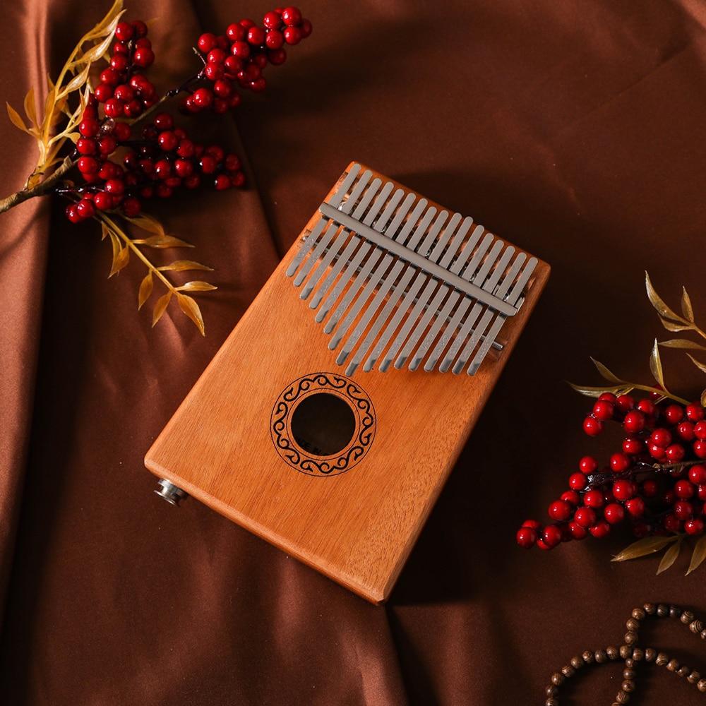 17 Keys Bull Kalimba Thumb Piano Mahogany Body Musical Instrument With Learning Book Kalimba Piano Christmas Gift enlarge