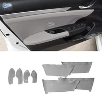 gray color for honda civic 10th gen 2016 2017 microfiber leather center door handle panel armrest covers protective trim