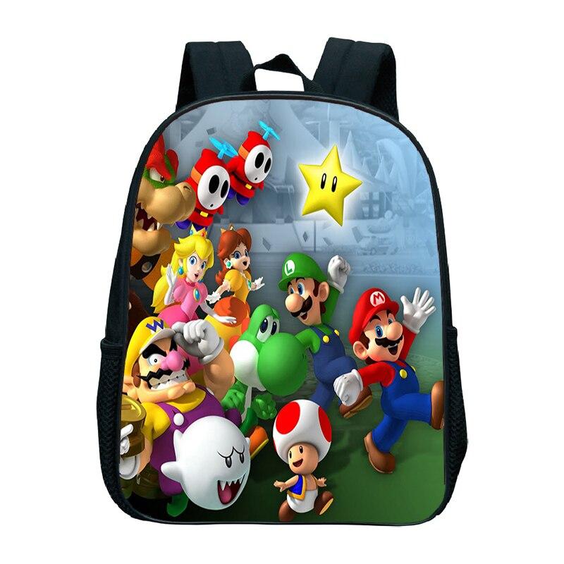 Bonito Super Mario Bros Mini Livro Mochila Mochila Das Crianças Das Crianças de Volta ao Presente Da Escola do jardim de Infância Bonito Kawaii Mochila