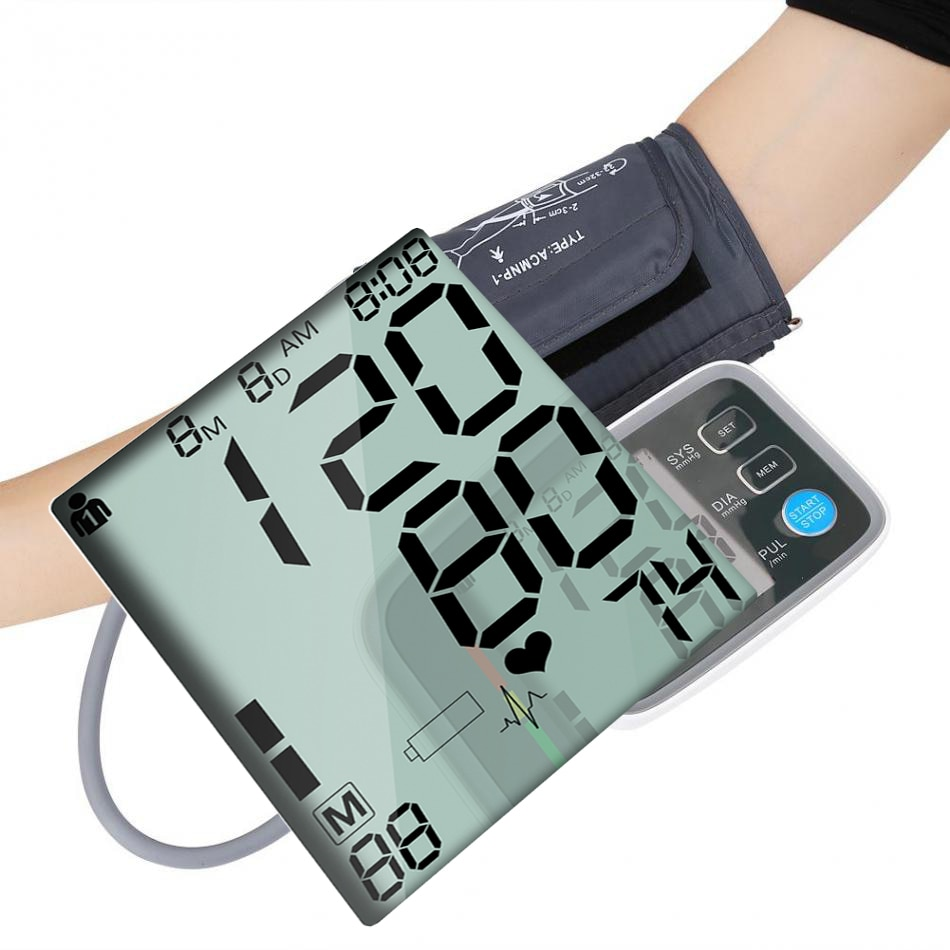 Medical Cuff32/48 Portable Tensiometro Digital Upper Arm Blood Pressure Monitor Heartbeat test monitor USB Chargeable with Bag