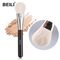Кисть для румян BEILI для макияжа с одной многофункциональной контурной рассыпчатой пудры, кисти для макияжа с круглой черной ручкой