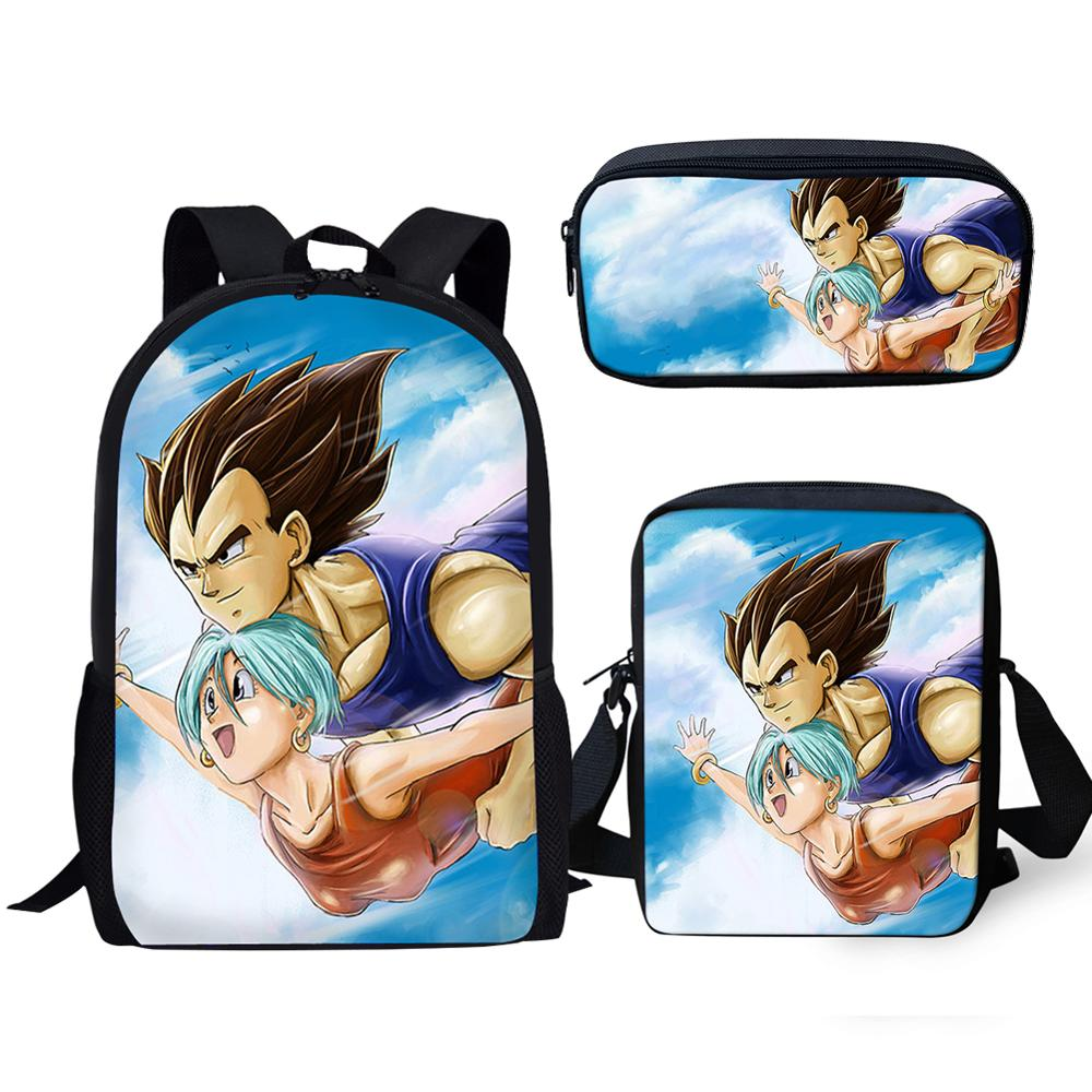 3 uds. Conjuntos de mochila escolar para niño Dragon Ball/hijo Goku, mochila escolar para niños, mochila para estudiante, mochila para hombre