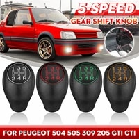 for peugeot 504 505 309 205 gti cti manual gear shift knob 5 speed lever shifter handle stick plastic car accessories